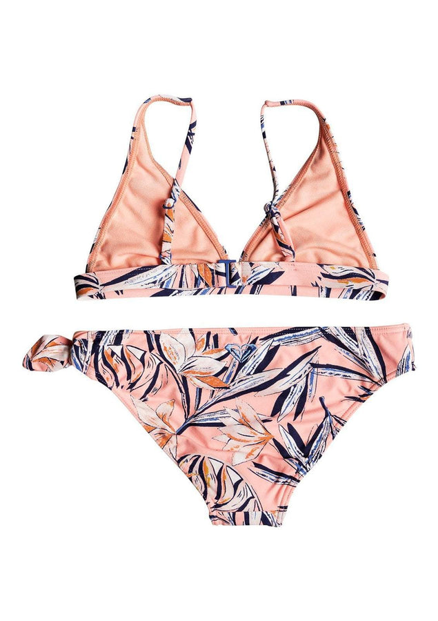 Girl's Born In Waves Elongated Tri Bikini Set