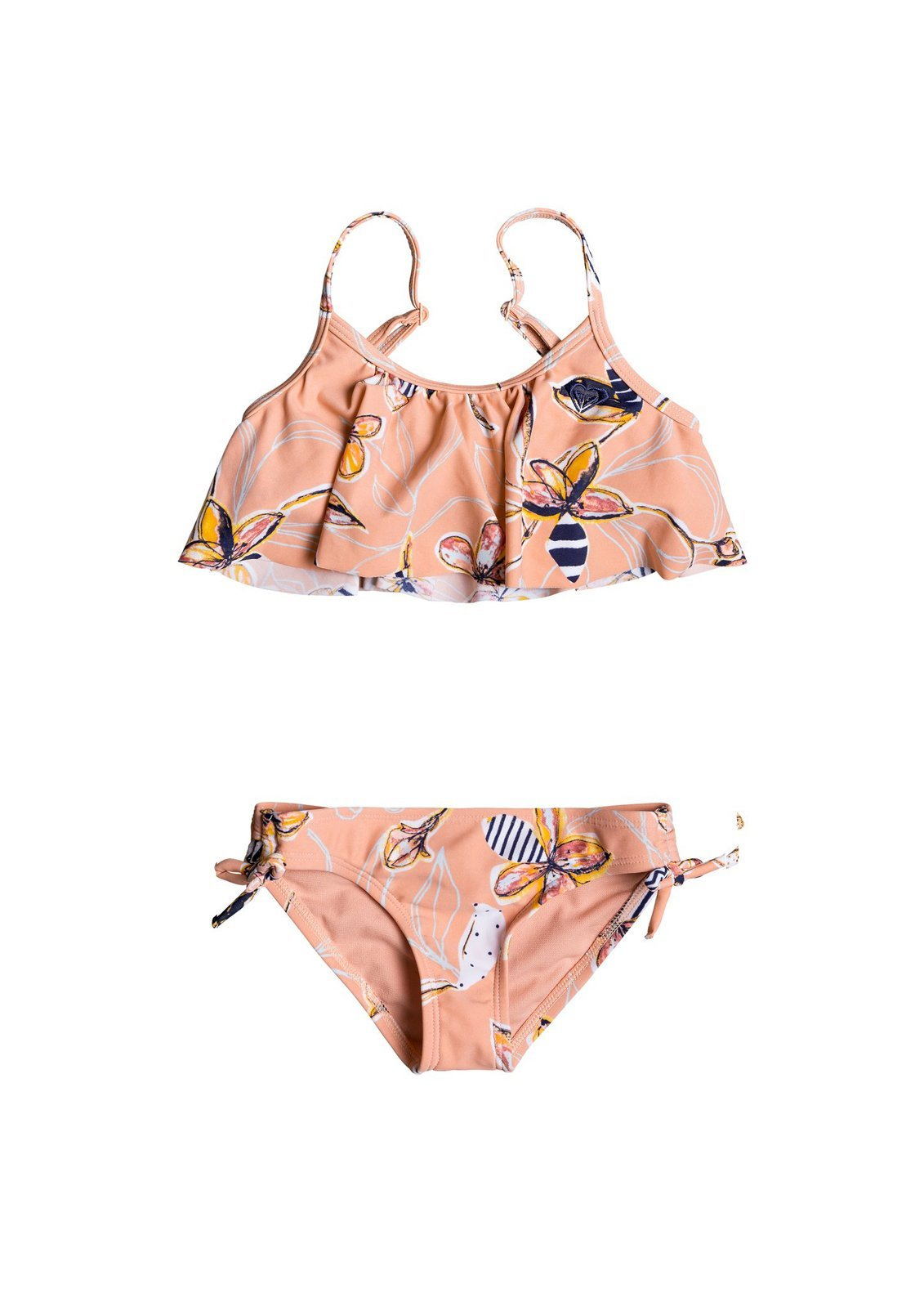 Girls Lets Be Roxy Flutter Bikini Set