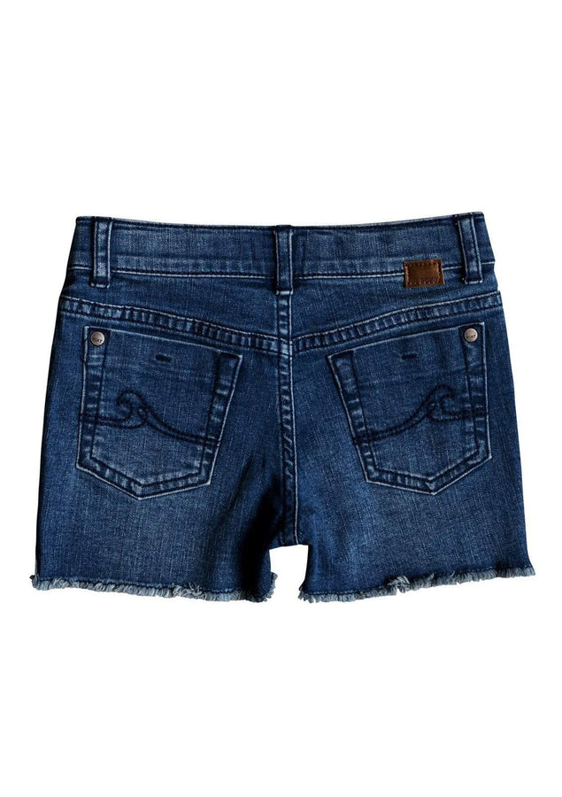 Little Girl's Light Heart Denim Shorts