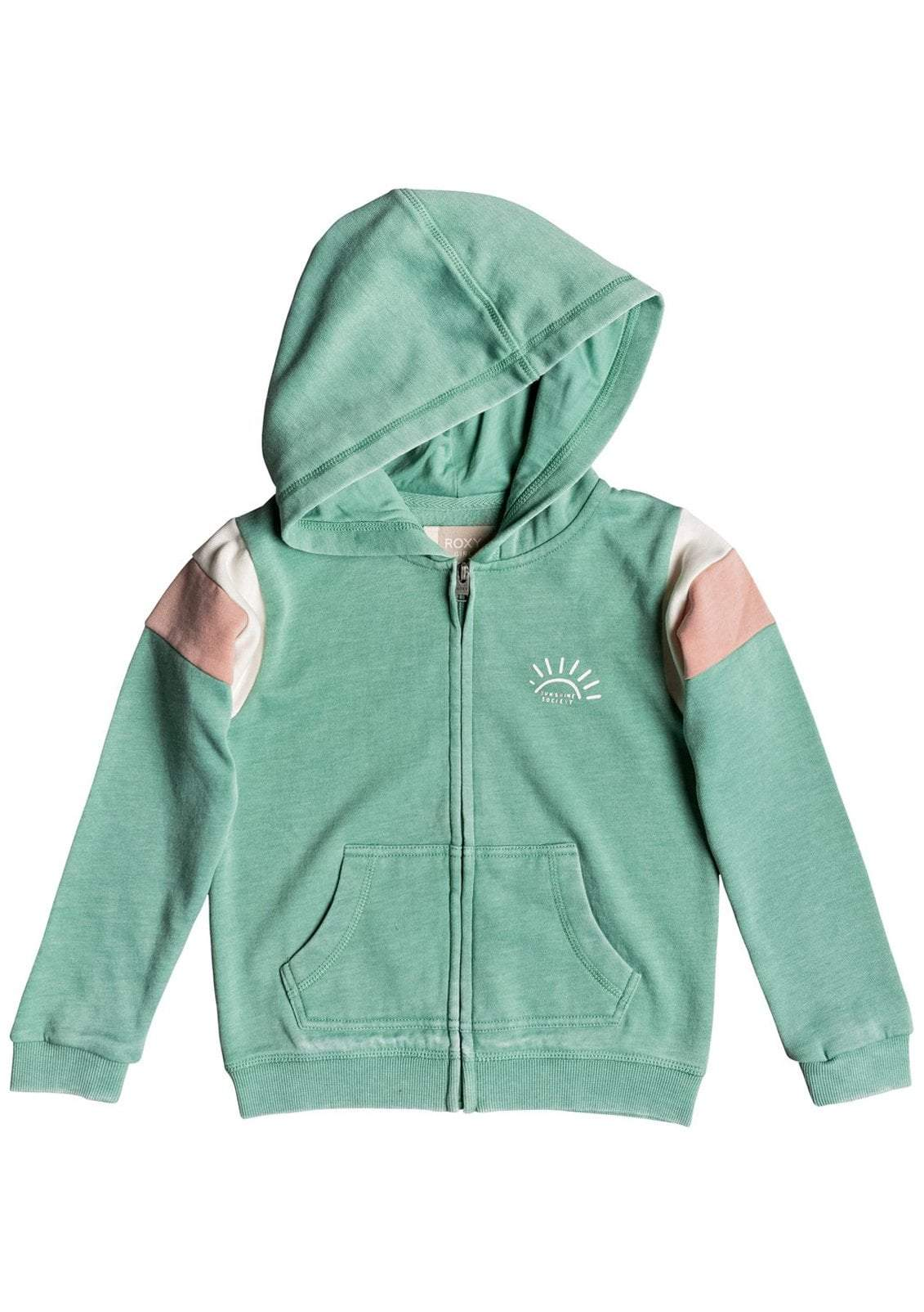 Little Girl's Beach In Hawaii Sunshine Society Zip-up Hoodie