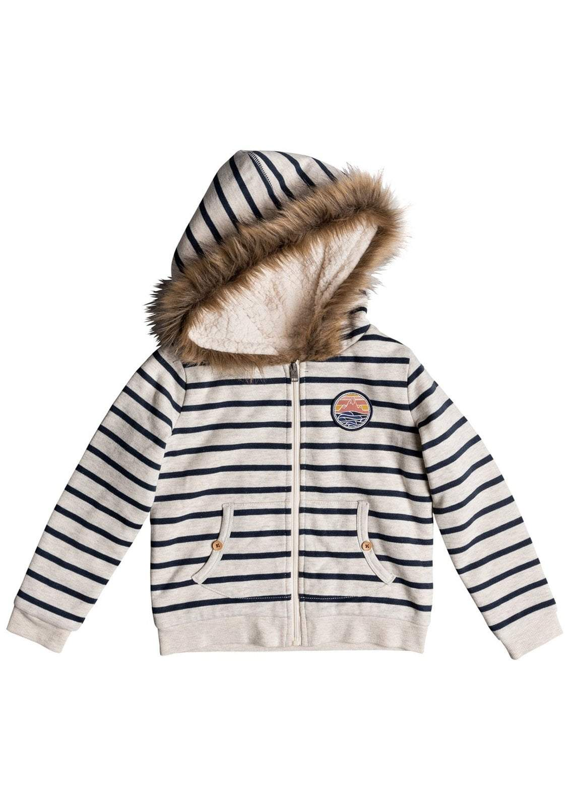 Little girl's Slumber Party Zip-up Sherpa Lined Hoodie