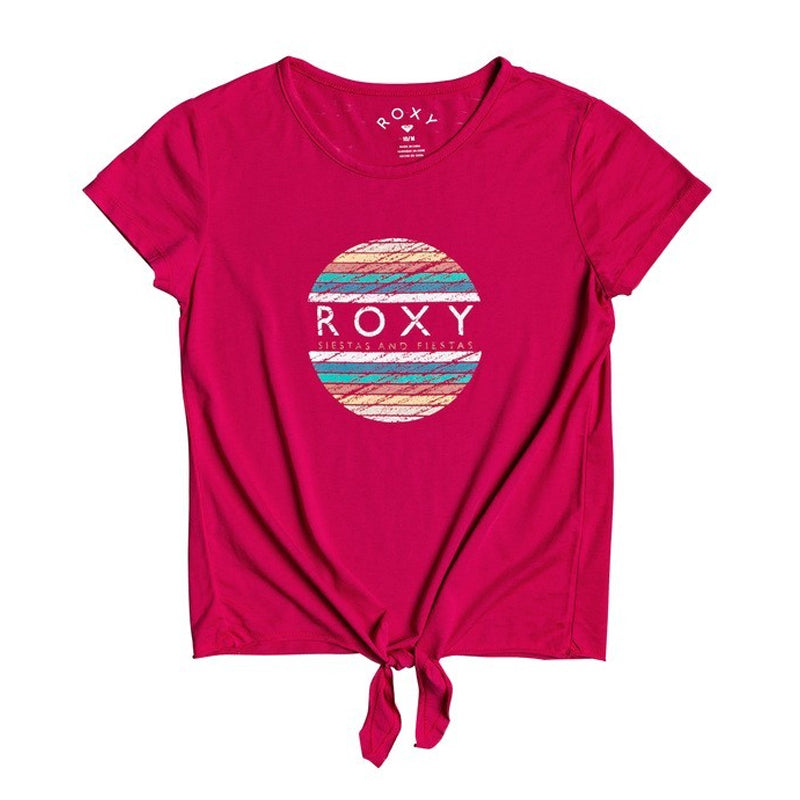 Girls Summer Long B Tie-Front Tee