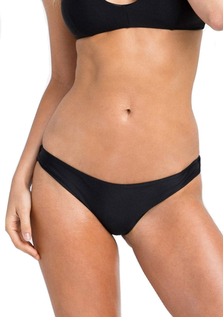 Women's Solid Cheeky Swim Bottoms