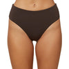 Womens Saltwater Solids III Hi-Waist Cheeky Swim Bottoms