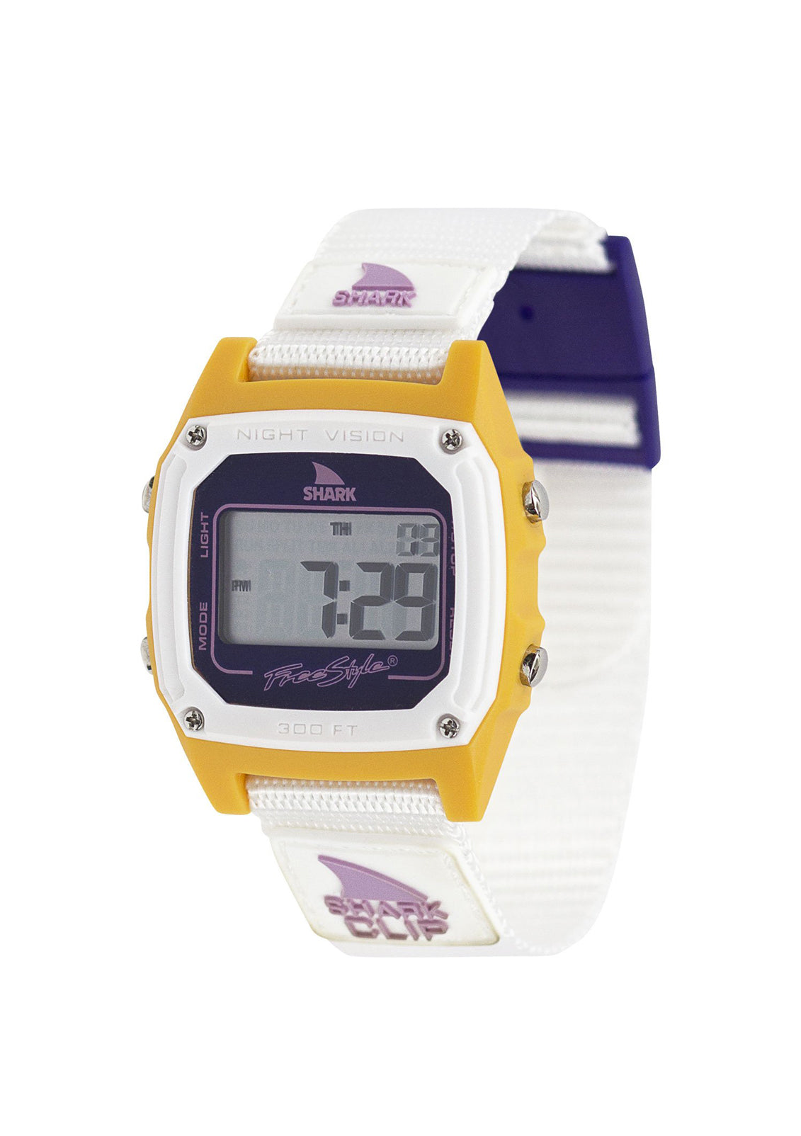 Shark Classic Clip Watch Peach N Purple