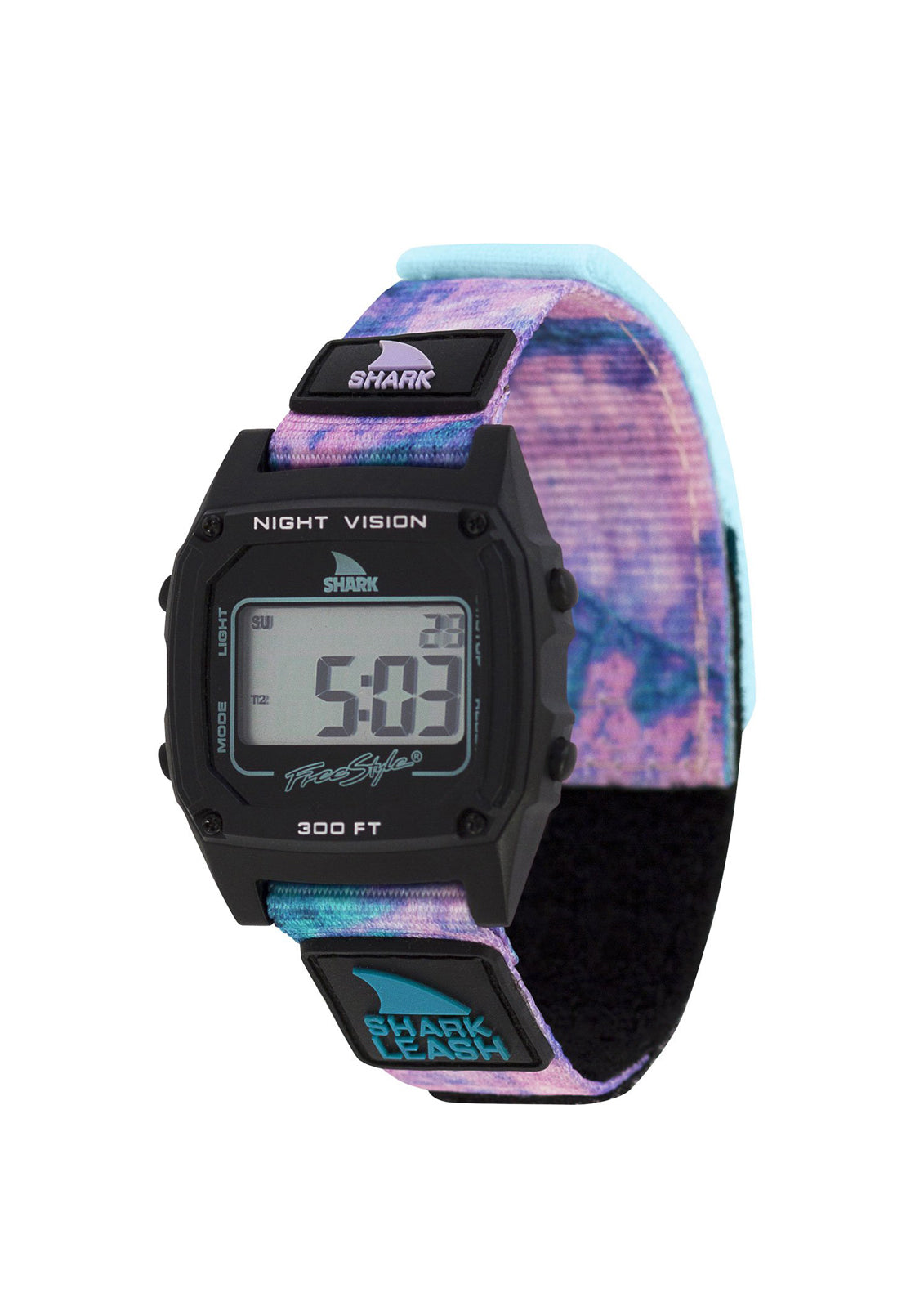 Shark Classic Leash Watch Tie-Dye Black Twist