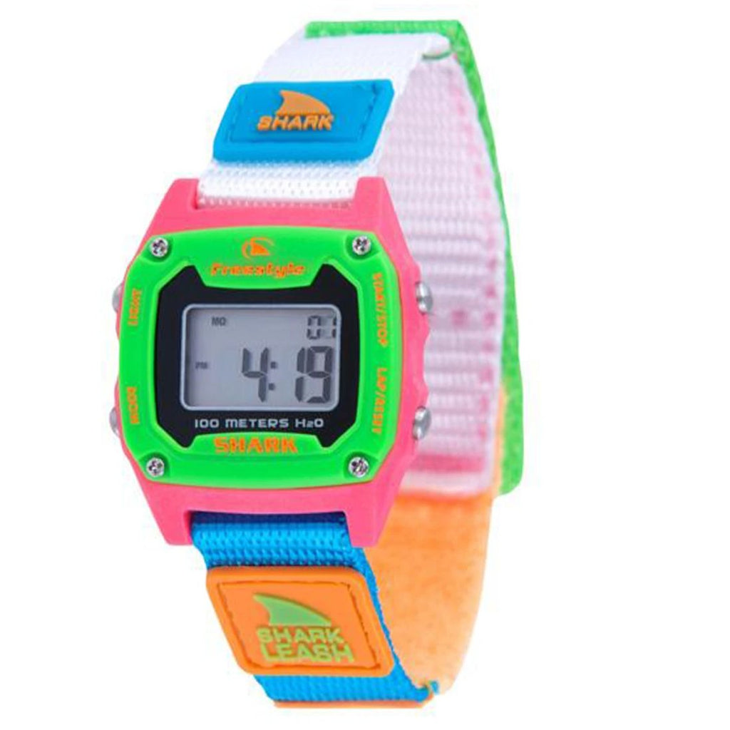 Shark Mini Leash Watch Black/Neon