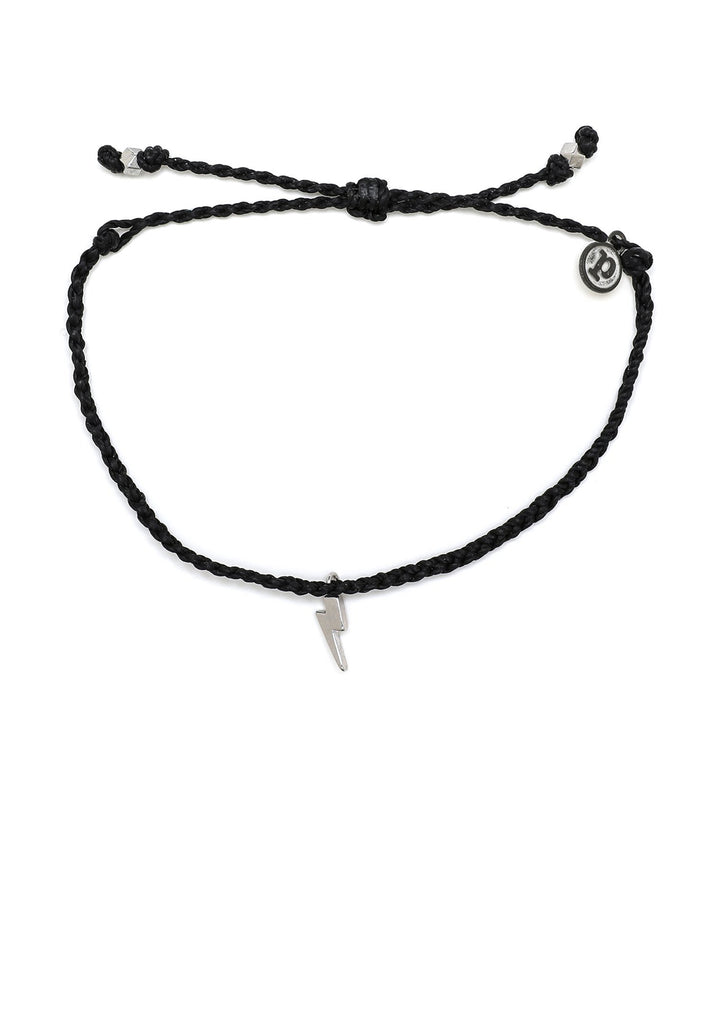 Pura Vida Silver Lightning Bitty Braid Bracelet