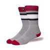 Mens Socks 'Maroon Stripe'
