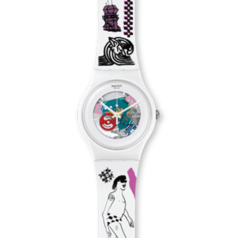 US OPEN x Swatch Sexy Thing Watch