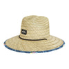 Tides Print Straw Lifeguard Hat
