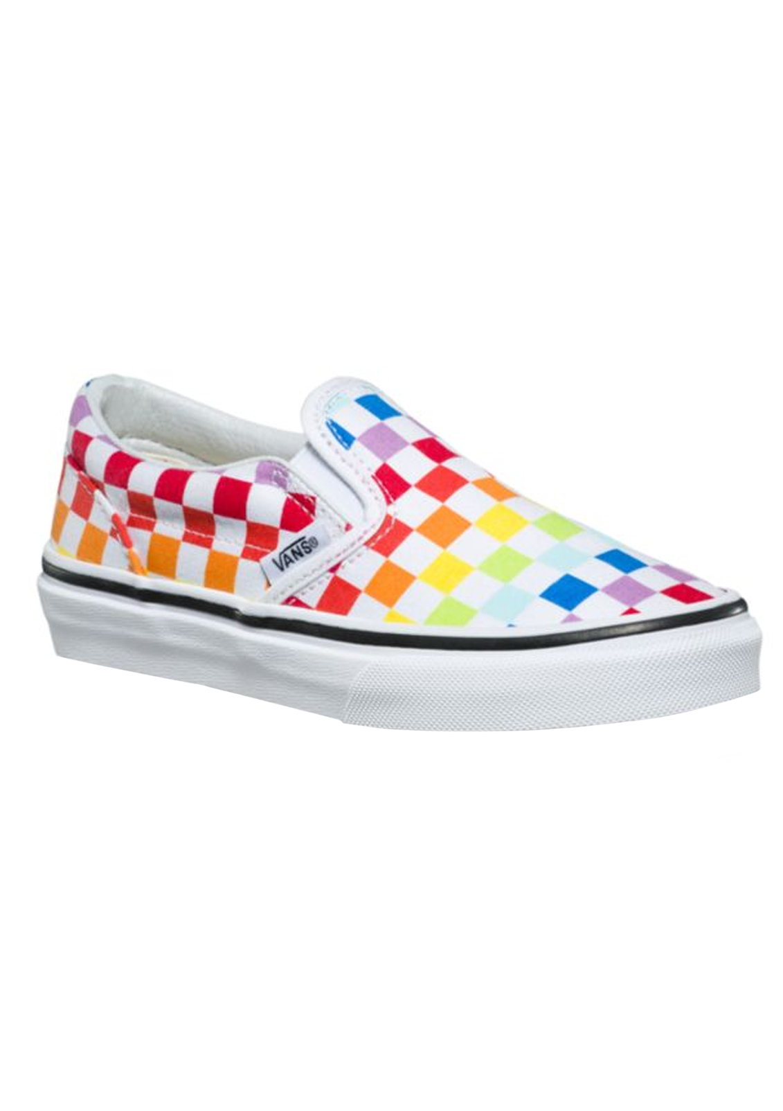 Kids Girls Checkerboard Slip-On