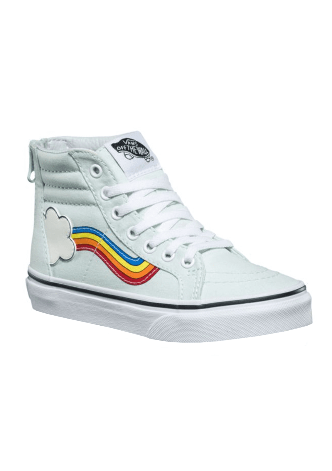 Kids Girls Rainbow Sidestripe Sk8-Hi Zip