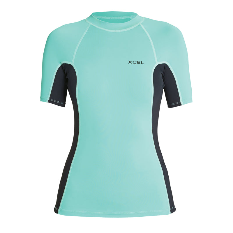 Xcel Women's Premium Stretch 6oz. Color Block S/S Rashguard FA19
