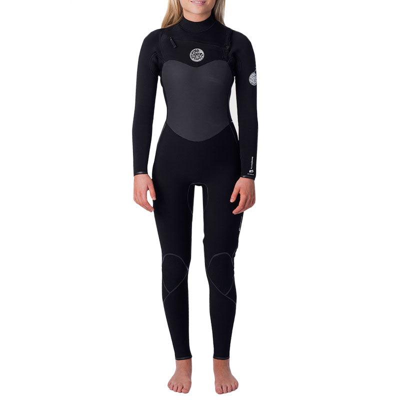 Rip Curl Women's Flashbomb 4/3 Chest Zip Fullsuit Wetsuit FA19