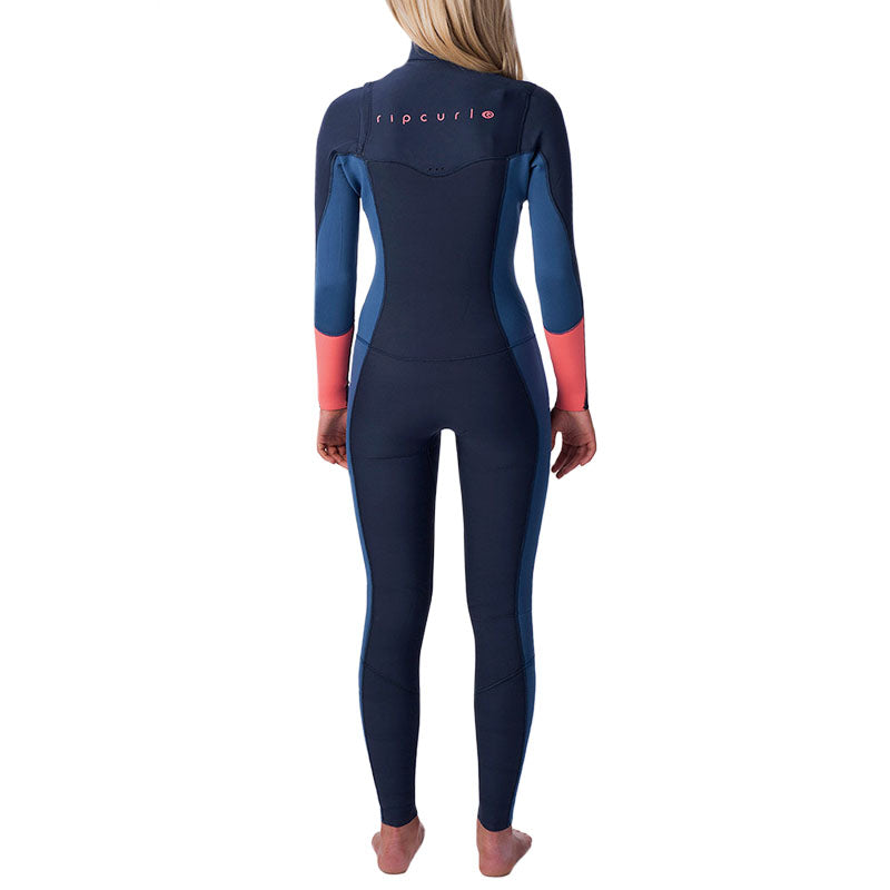 Rip Curl Women's 4/3mm Dawn Patrol Chest Zip Fullsuit Wetsuit SP20