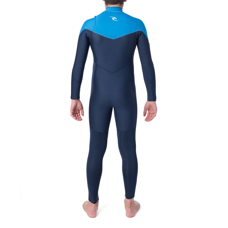 Rip Curl Boy's Dawn Patrol 4/3MM Chest Zip Fullsuit Wetsuit SP20