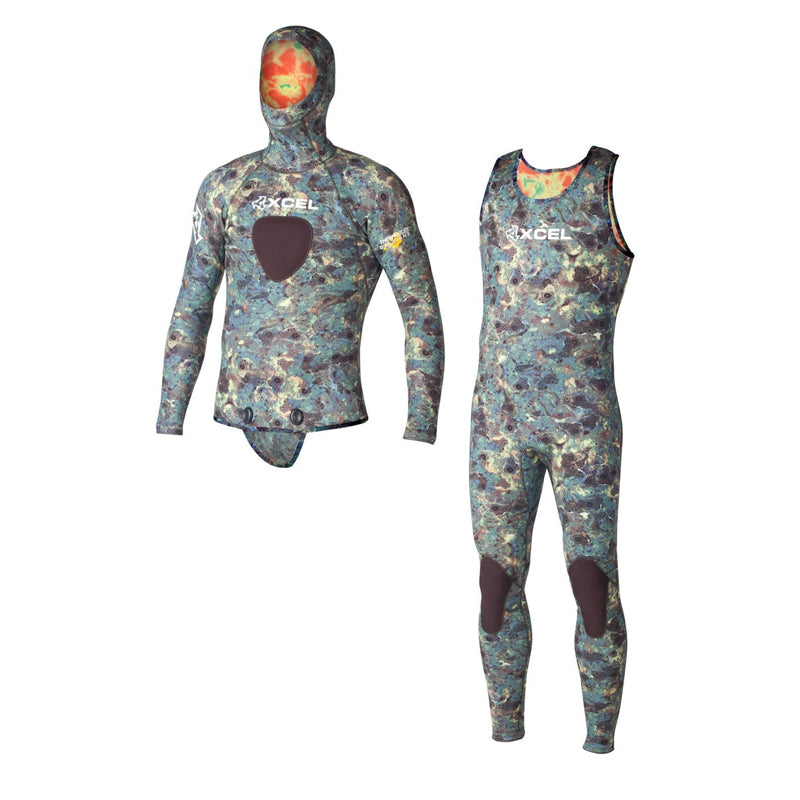 Xcel Men's Thermoflex 7mm Free Diver TDC 2-Piece Full Suit FA19