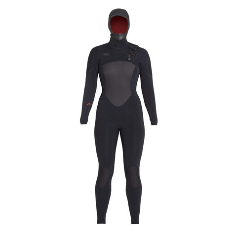 Xcel Women's Drylock Hooded 5/4 Fullsuit Chest Zip Wetsuit FA18