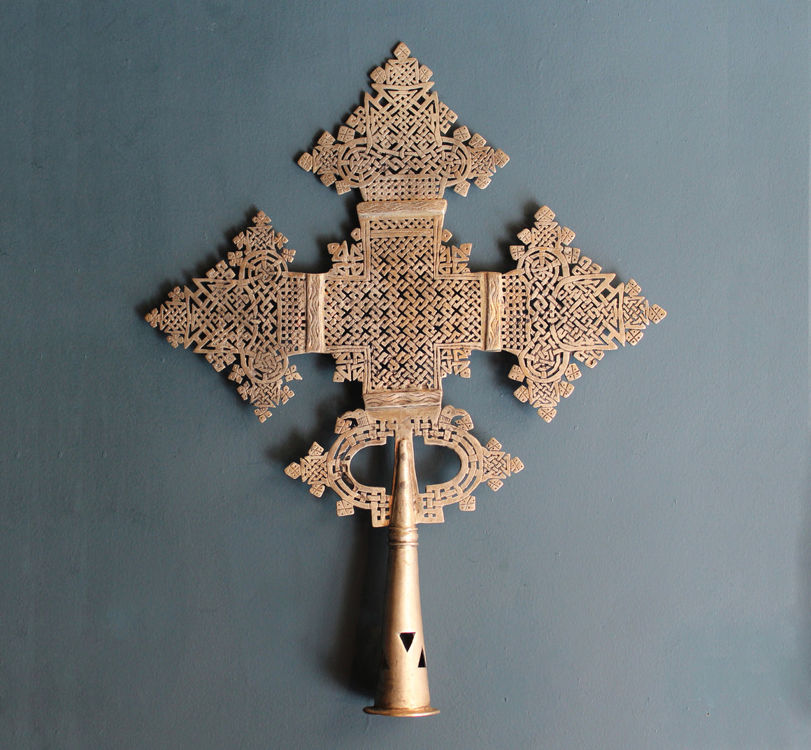 Decorative Processional Cross from Ethiopia - Extra Large