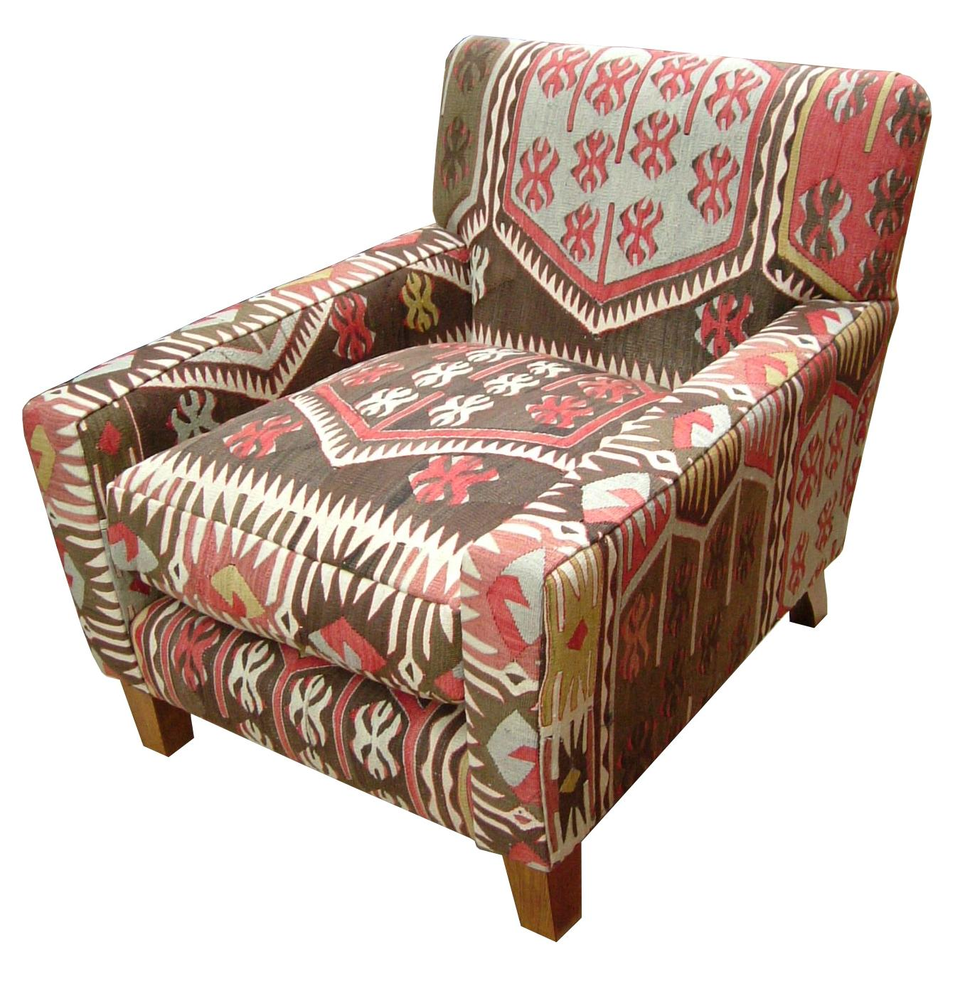 Tremendous Lewes Fixed Back Chair In Turkish Kilim Settle Home Beutiful Home Inspiration Xortanetmahrainfo