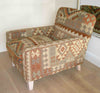 Lewes Fixed Back Chair in Kutchi Kilim