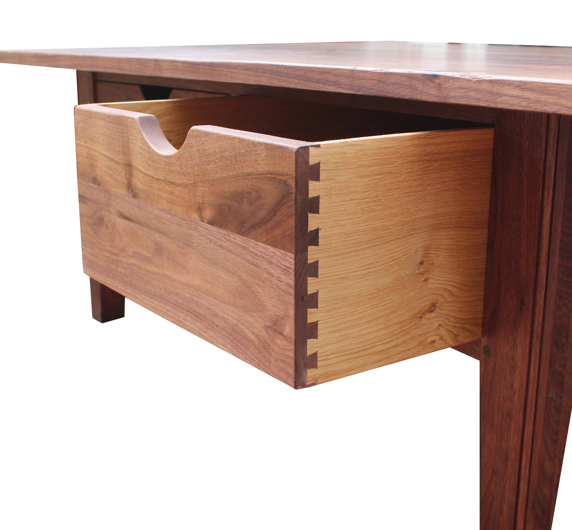 Blackheath Solid Walnut Coffee Table with Through Drawers