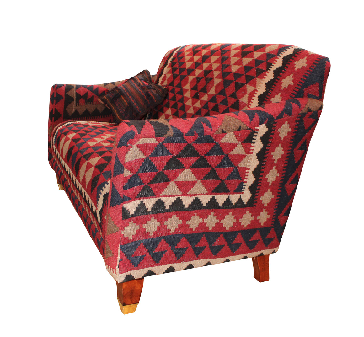 Brompton Fixed Back Sofa in Kilim