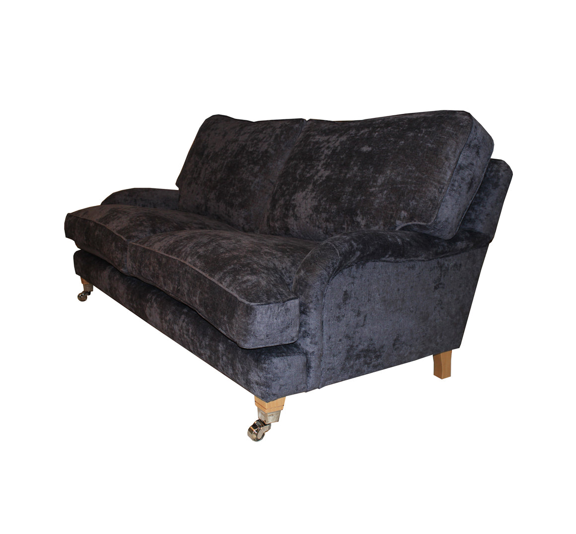 Burnham Cushion Back Sofas in Mulberry Clan Chenille