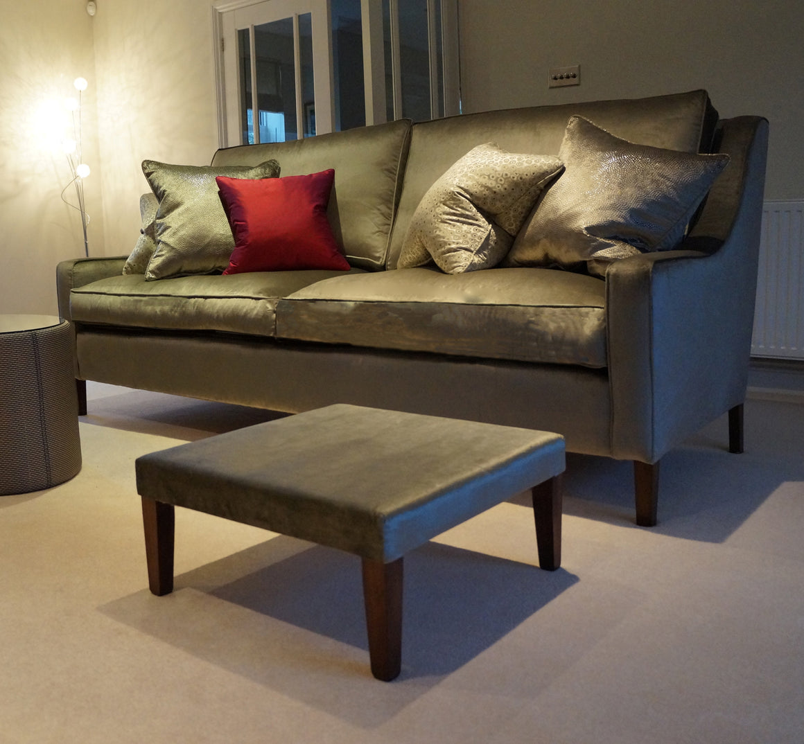 A Marlow Cushion Back Sofa and Chairs