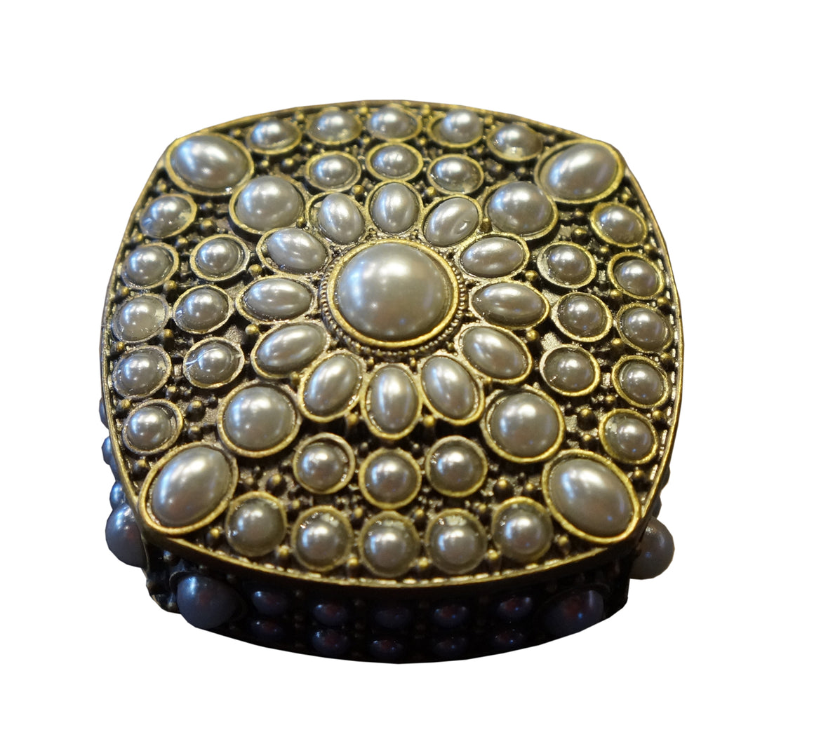 Square Pearl Trinket Box