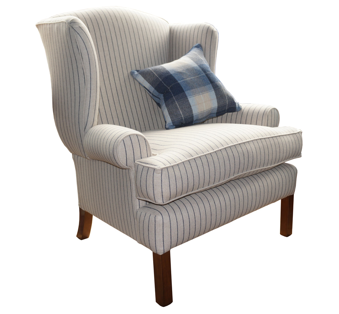 Jodphur Large Wing Chair in Sanderson Byron