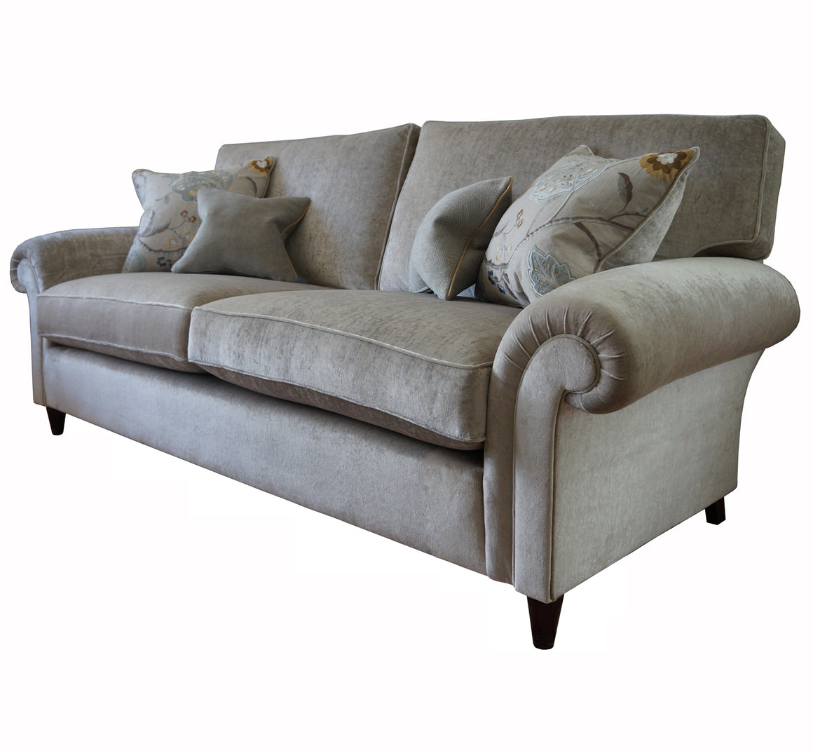 A Walton Cushion Back Sofa in Wemyss Ashton Velvet