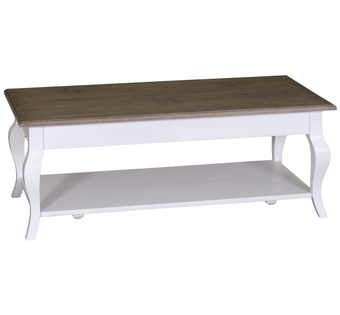 Chelsea Cabriole Leg Coffee Table with Pot Board