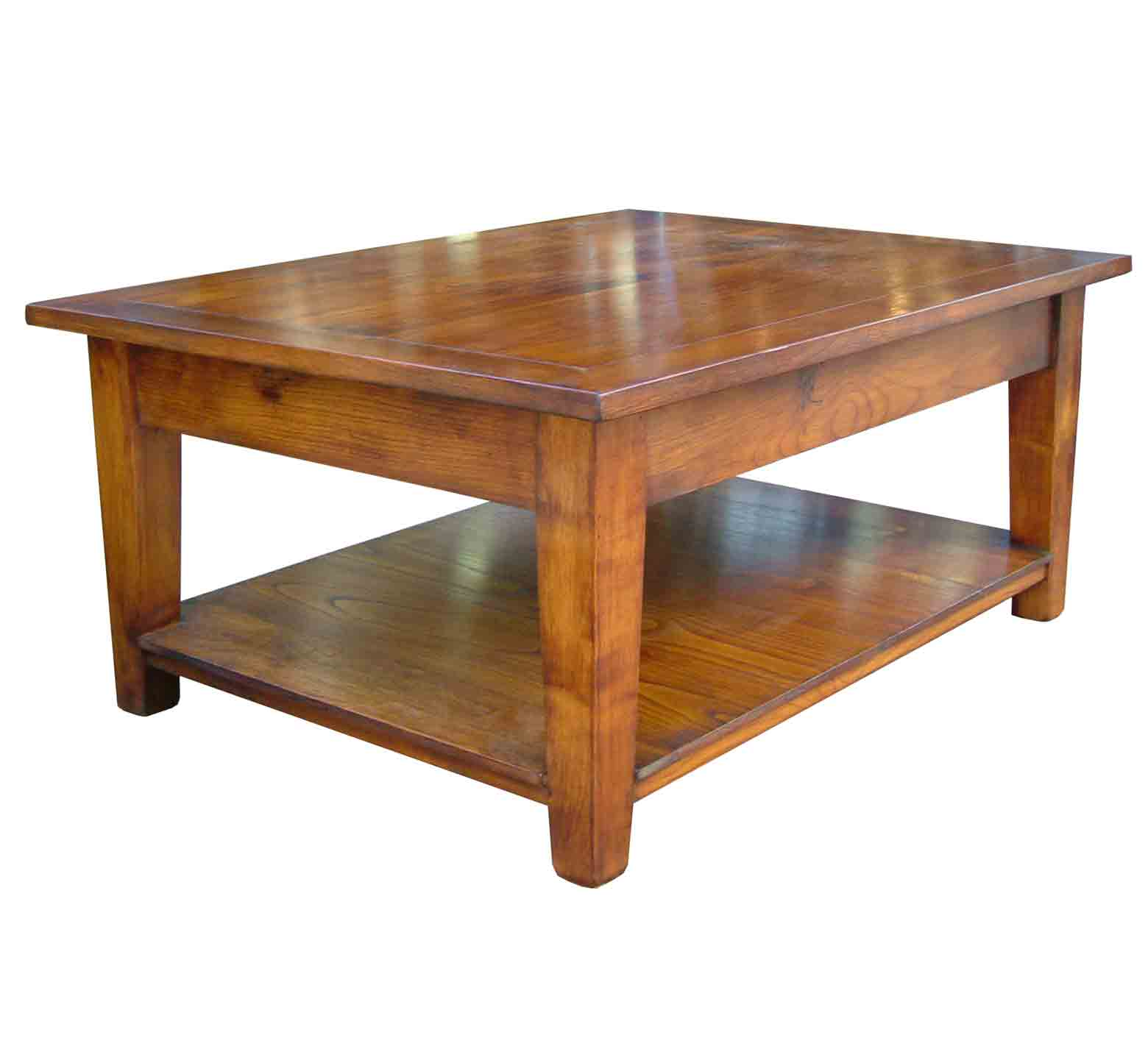 Southwold Solid Cherry Wood Coffee Table With Pot Board Settle Home