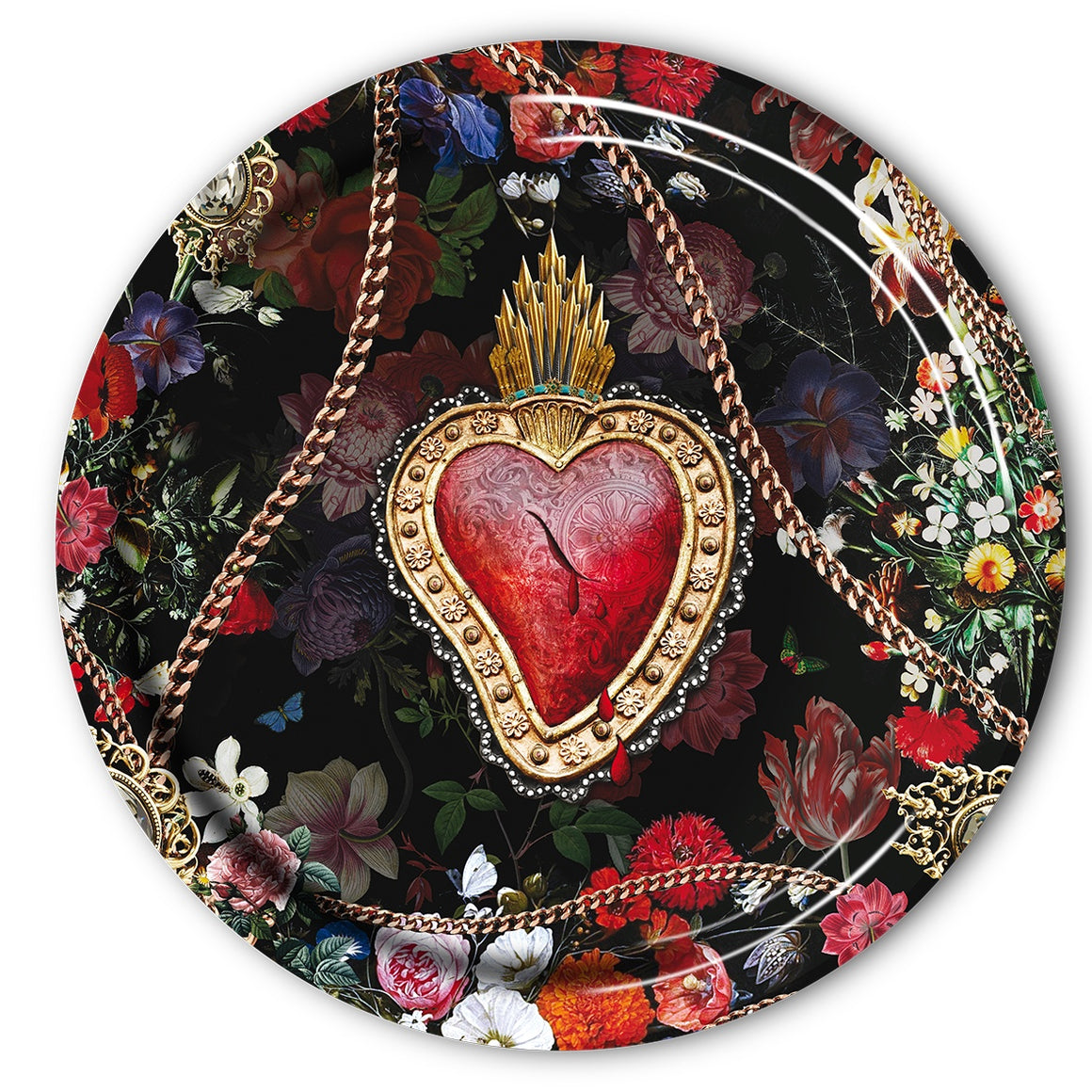Corazon sacred heart serving tray
