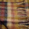sunflower and honey handwoven fringed check pure new wool throw