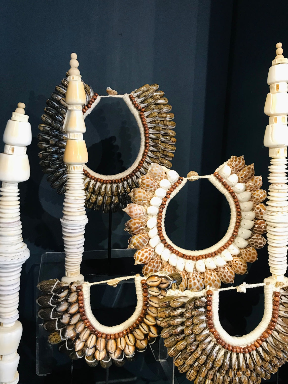 Decorative Shell Money Towers from Papua New Guinea
