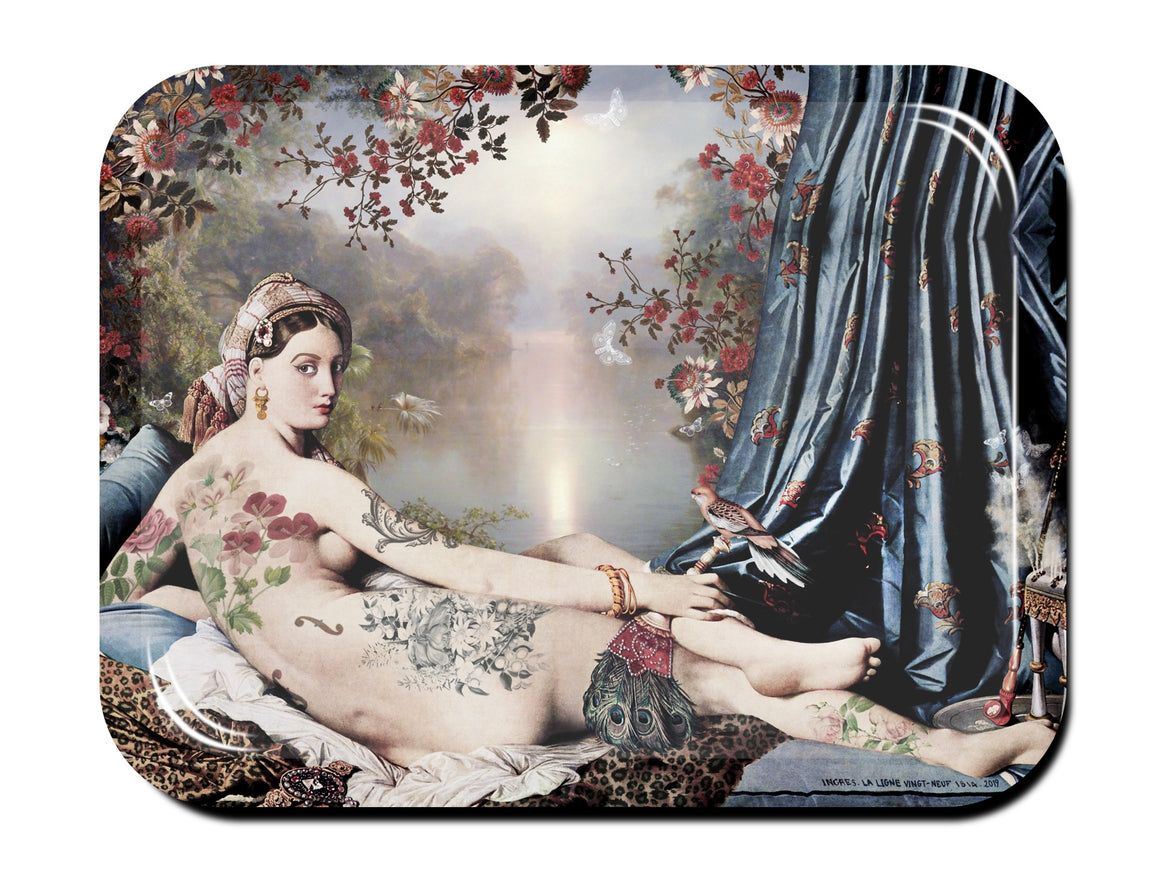 Ingres' Odalisque serving tray