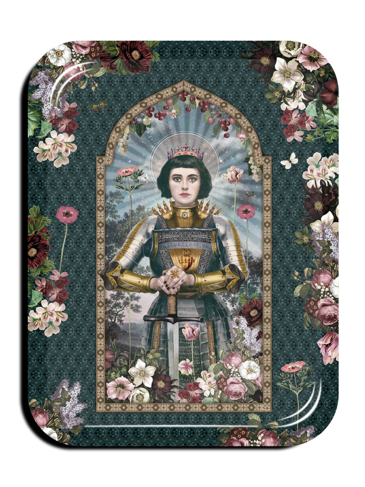 St Joan of Arc serving tray