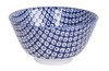 Raindrop design blue and white bowl from Japan