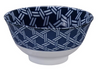 Kagome basket weave design blue and white bowl from Japan