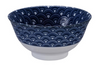 Segeiha dark wave design blue and white bowl from Japan