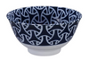 Musubi knot design blue and white bowl from Japan