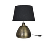 Kingston beaten metal table lamp and shade