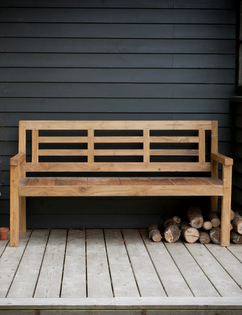Camden reclaimed teak bench