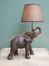 An Elephant table lamp and shade
