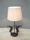 Two hares table lamp and shade
