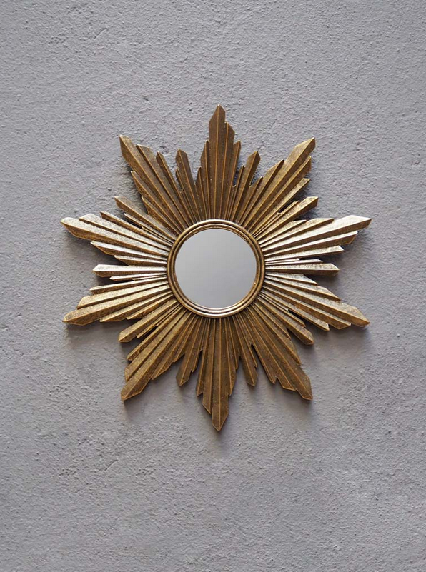 Russian style gold sunburst mirror