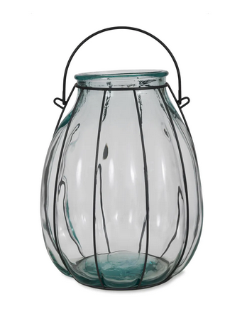 Winchelsea recycled glass cage lantern
